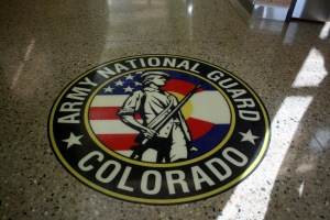 Army National Guard Colorado Logo - Bomanite Polished Concrete