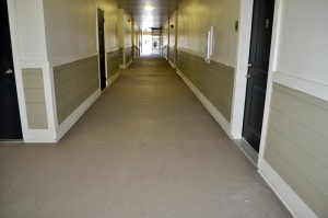 Bomanite Broadcast Aggregate System -Apartment Hallways