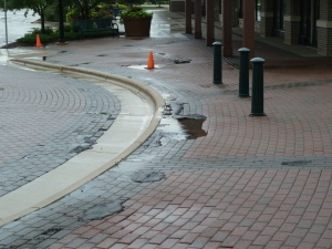 Greenway Station Shopping Center - Paver Failure
