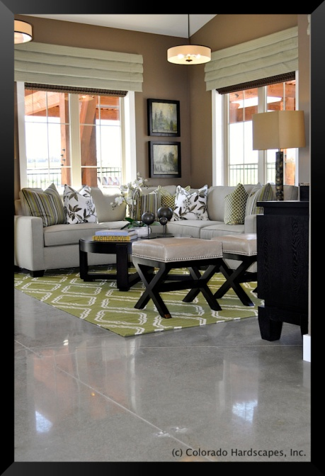 Bomanite polished concrete floors