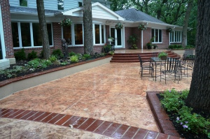 Bomanite Imprinted Concrete Pool Deck