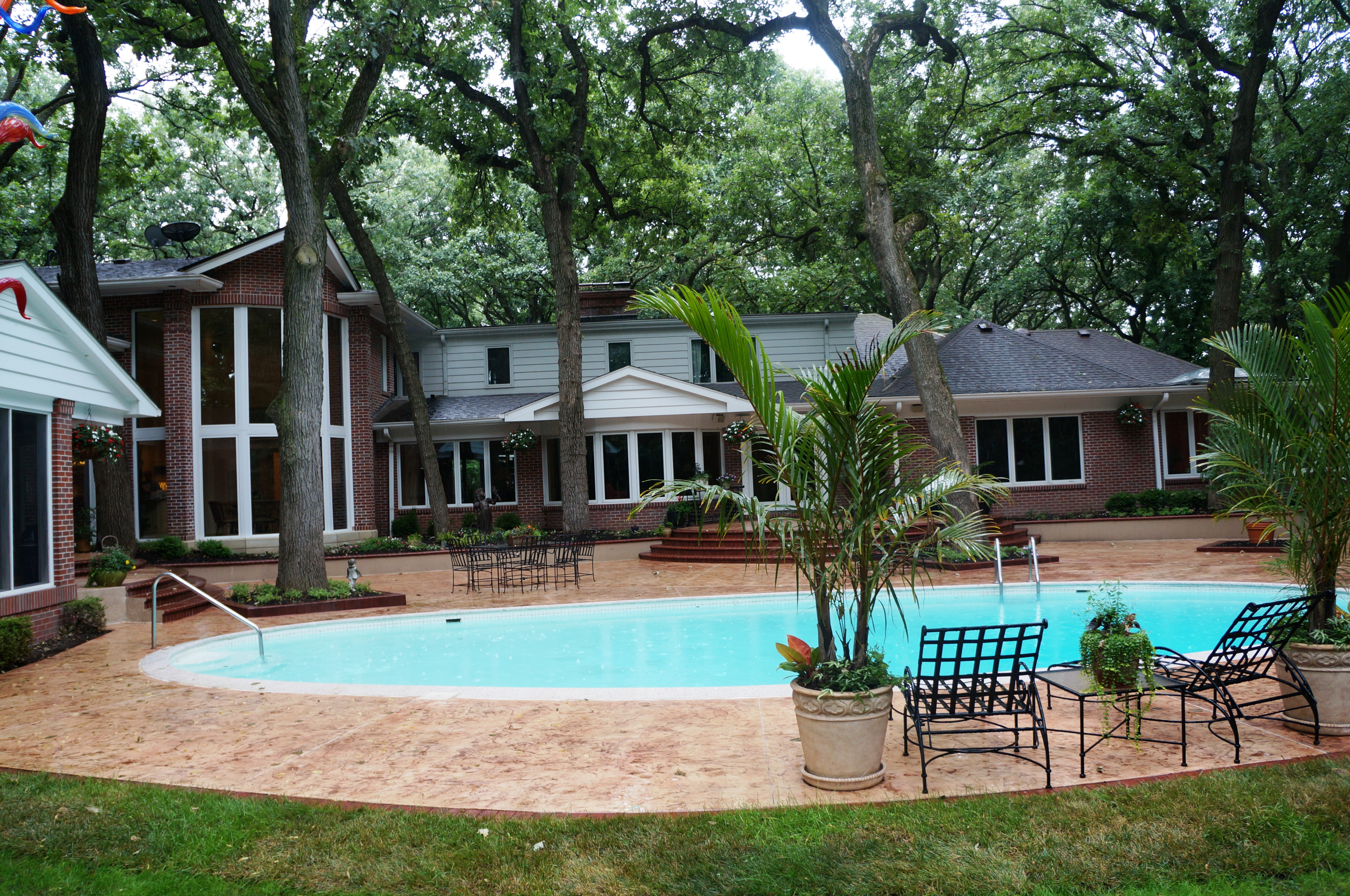 Homeowners Choose Stamped Concrete for Renovated Patio and Pool ...