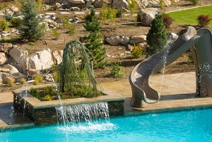 Bomanite Decorative Concrete Waterfall Feature