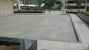 ONEOK Plaza - Bomanite Alloy Shale Gray and Natural Gray Color Hardener