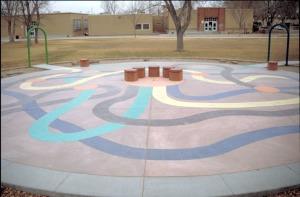 Bomanite Con-Color Decorative Concrete Playground (3)