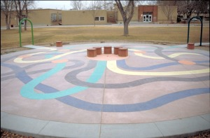 Bomanite Con-Color Decorative Concrete Playground (3)