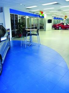 Bomanite Micro-Top First Texas Honda Showroom