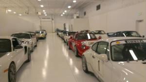 Bomanite White Florspartic 100  Installed  Garage Floor