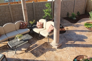 Bomanite Stamped Concrete Outdoor Space