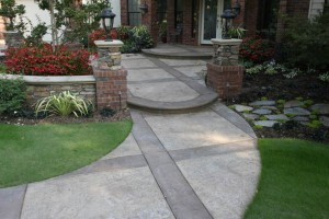 Bomanite Imprinted Concrete Walkway
