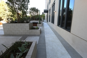 Exposed Aggregate Concrete Pavillion