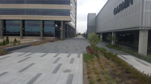 Garmin Exterior Exposed Aggregate Sandscape Pedestrian Walkway for Commerical Property