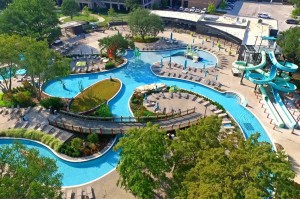 Hilton Anatole Hotel Jade Waterpark Texas Bomanite Sandscape Texture, Sandscape Refined, Shifting Sand Imprinted concrete Pool Deck