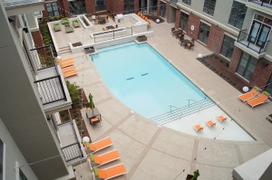 Tulsa Hartford Commons Bomanite Exposed Aggregate Alloy Pool Deck