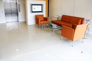 Bomanite Modena SL White Polished Concrete Floor Kansas City