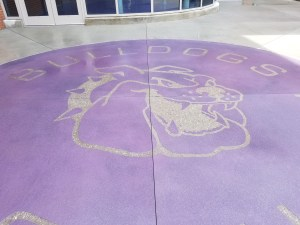 Harrisburg High School Adds Sparkle with Bomanite Alloy Bulldog Logo