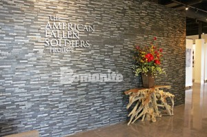 American Fallen Soldiers Gallery Gives Back to the Community with Texas Bomanite Concrete Dye Patene Teres Polished Concrete Floors