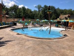 Canobie Lake Park, Castaway Island Expansion, Kids lagoon Stamped with Bomacron Garden Stone Pattern Decorative Concrete