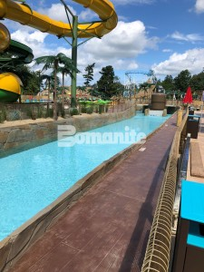 "Canobie Lake Park, Castaway Island Expansion, Tidal River Lifeguard Walk Stamped with Bomacron 11.5"" Boardwalk Pattern Decorative Concrete"