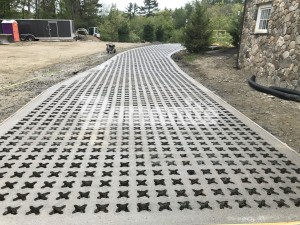 Bomanite Pervious Concrete helps with Stormwater management for this Essex County Estate