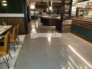 Angeline by Michael Symon located in the Borgata Hotel Casino and Spa in Atlantic City uses Bomanite Decorative Concrete Bomanite Modena SL Custom Polished Concrete Floors installed by Beyond Concrete from Keyport, NJ for a Hi-end Iron Chef Restaurant