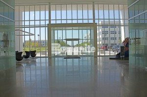 Bomanite VitraFlor Custom Polished Concrete Floors installed by Texas Bomanite at the Cypress Waters Business Complex in Coppell Texas perfect for interior flooring lobbies