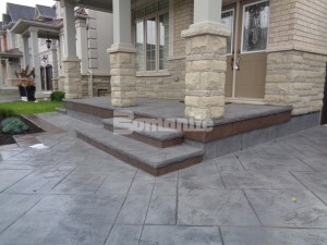 Canadian Homeowners Invest in Bomanite Decorative Concrete with an installation by Bomanite Toronto using the Yorkshire Stone Pattern for their Driveway and Patio in Burlington, Ontario Canada
