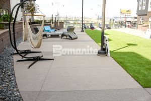 CoLab Cohousing located in Denver Colorado created a stylish student living community with Bomanite Bomanite Sandscape Textured Walking Paths designed with different colors to create a modern pattern